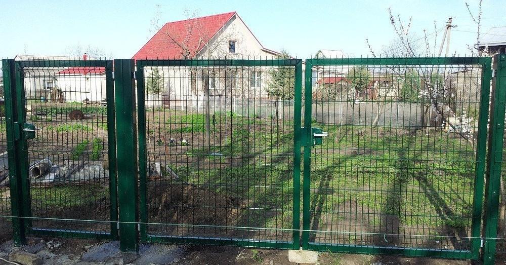 Распашные ворота с фурнитурой Locinox ТЕХНА Класик/Пром Высота 2430 Ширина 5000 Столб 3500х80х80