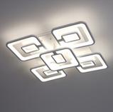 Светодиодная люстра акриловая потолочная лед 3438/5, фото 3