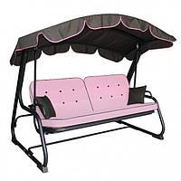 Диван-качели (садовые качели) Evia розовая Италия Primilla Бесплатная доставка!