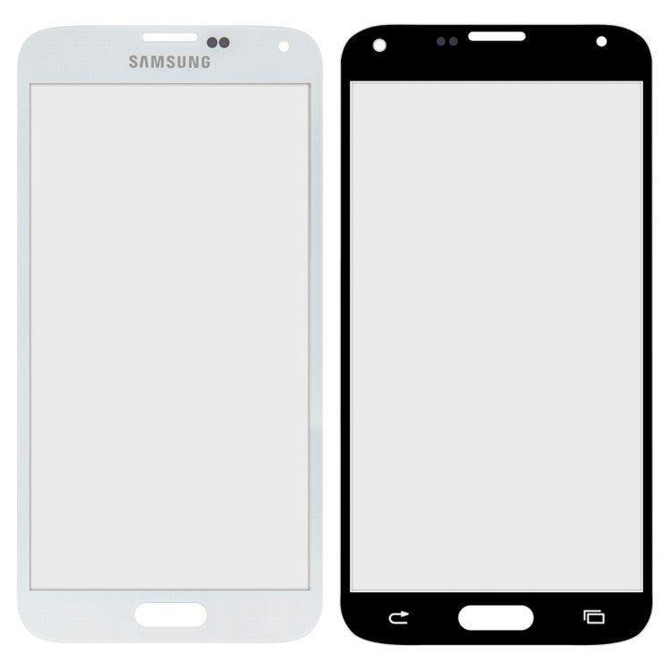 Корпусное стекло дисплея Samsung Galaxy S5 G900 (G900H, G900F) White