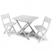 Набор садовой мебели Camping (4 стула) производство Италия цвет белый