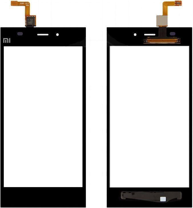 Сенсор (тачскрин) Xiaomi Mi3 Black