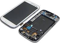 Дисплей (экран) для телефона Samsung Galaxy S3 I9300i, I9301 (Super AMOLED) + Touchscreen with frame Original White