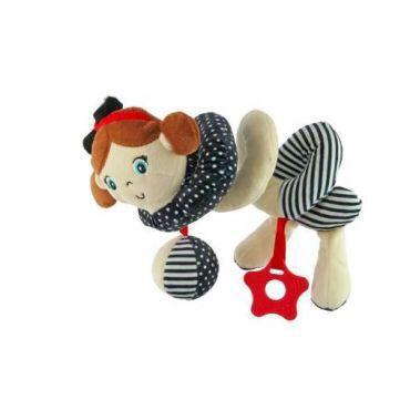 Красивая детская плюшевая погремушка в виде спирали baby mix