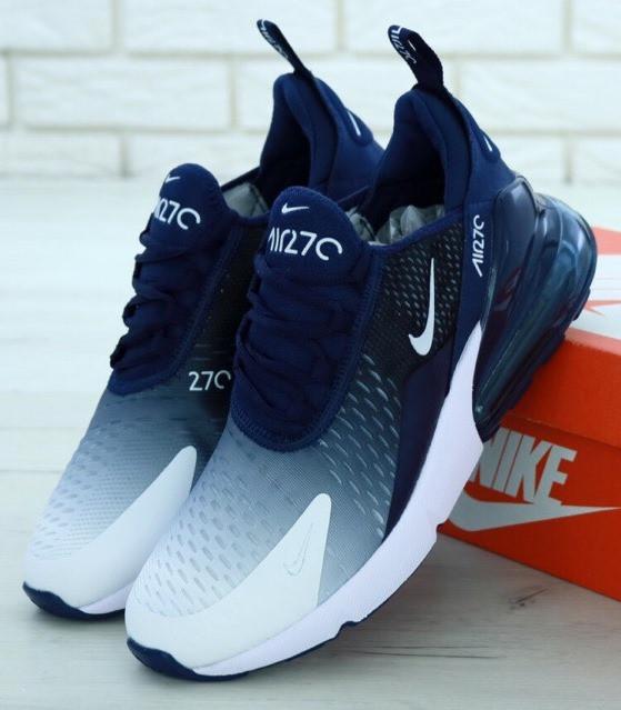 "Мужские кроссовки Nike Air Max 270 ""Navy Blue/White"" (Найк Аир Макс 270)"