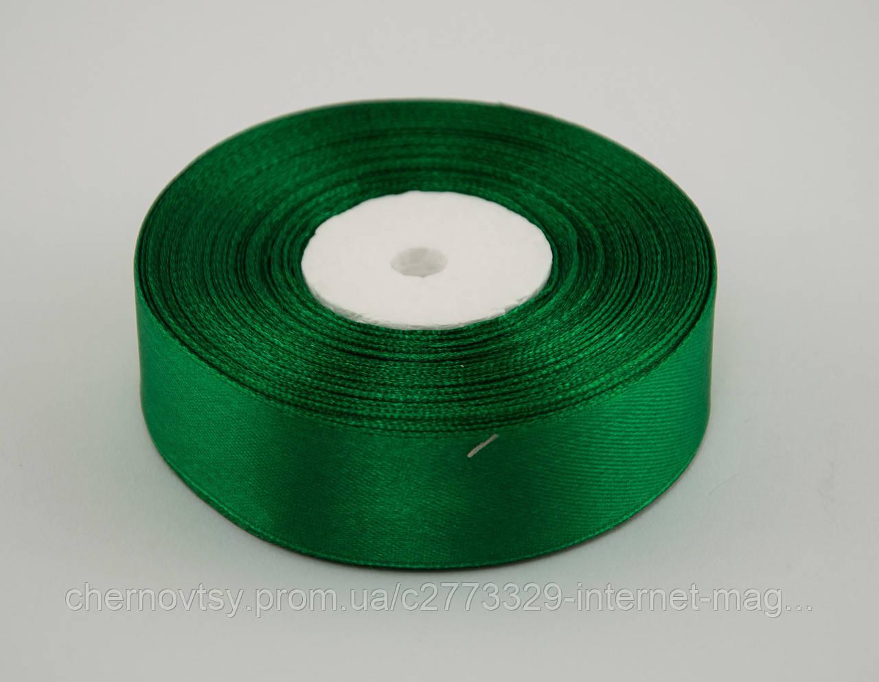 Лента атлас 0.6 см, 33 м, № 19 зеленая