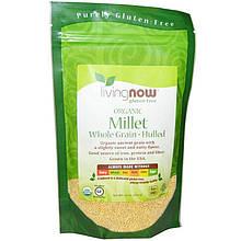 """Натуральное просо NOW Foods, Living Now """"Organic Millet Whole"""" цельное зерно (454 г)"""