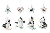 Подвесной декор Пингвинчики, 5,5см, 4 вида