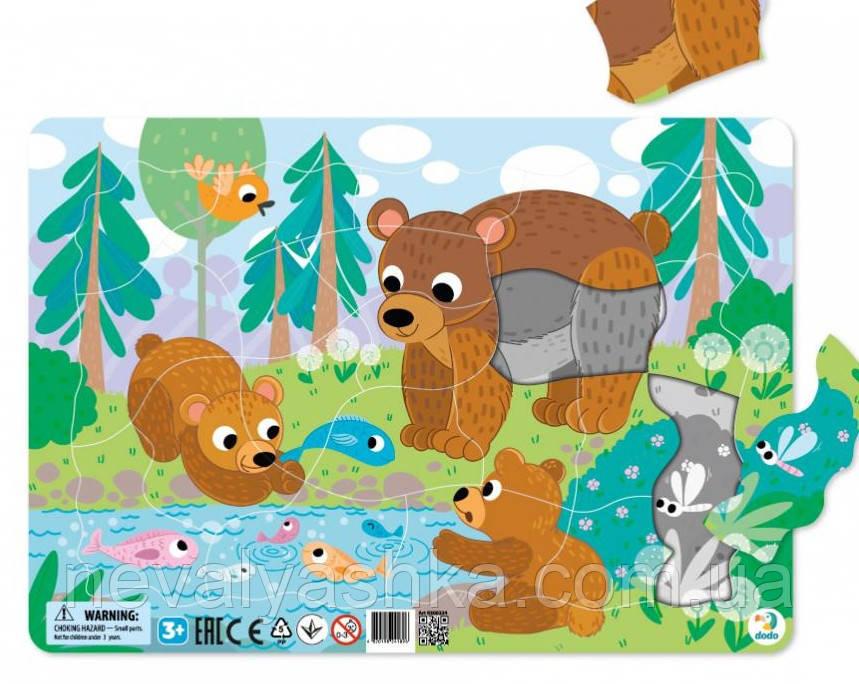 Пазл с Рамкой 30 см Пазл з рамкою Ведмежата Мишки Медведи 21эл Пазлы в Рамке ведмеді Додо DoDo 300221 011372