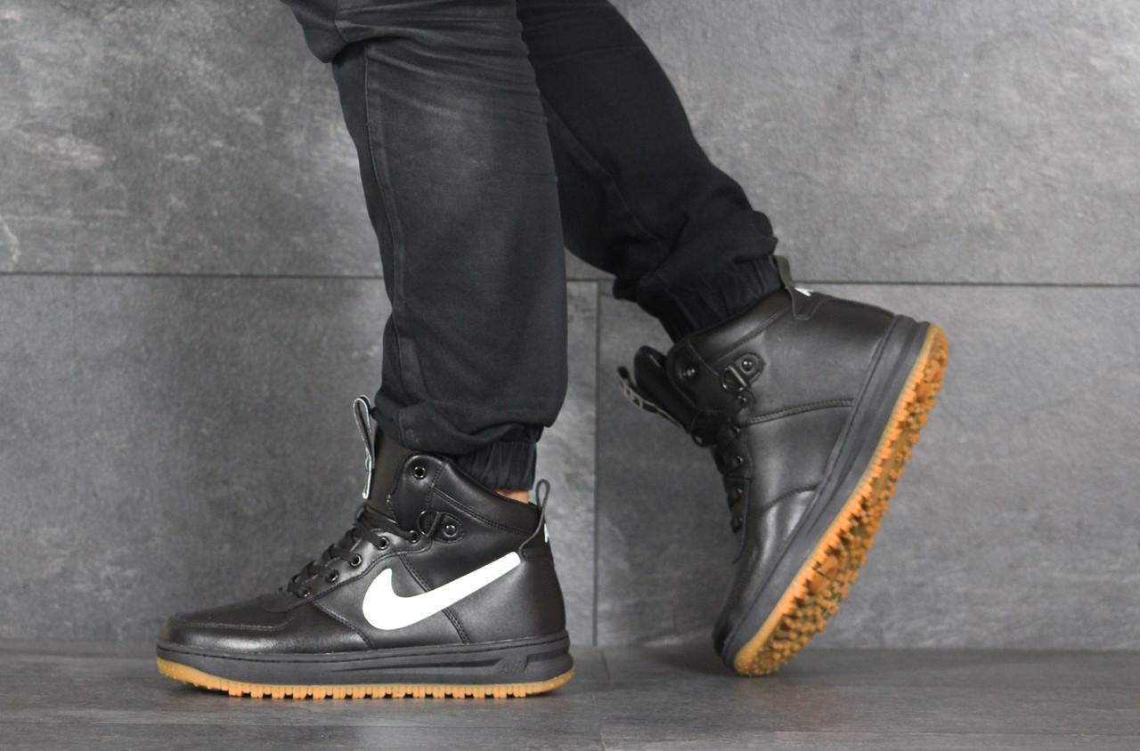 Высокие кроссовки Nike Lunar Force 1,черно-белые