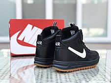 Высокие кроссовки Nike Lunar Force 1,черно-белые, фото 2