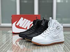 Высокие кроссовки Nike Lunar Force 1,черно-белые, фото 3