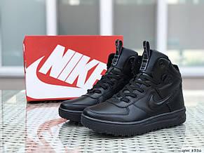 Высокие кроссовки Nike Lunar Force 1,черные, фото 2