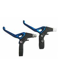 Ручки гальмівні алюміній посилені SAIGUAN BL-214 МТБ /Гібрид (Синій)