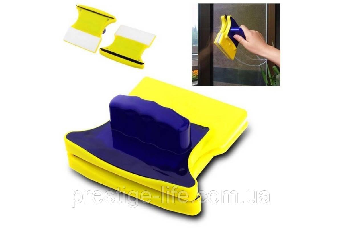 Двостороння магнітна щітка для миття вікон Glass Wiper