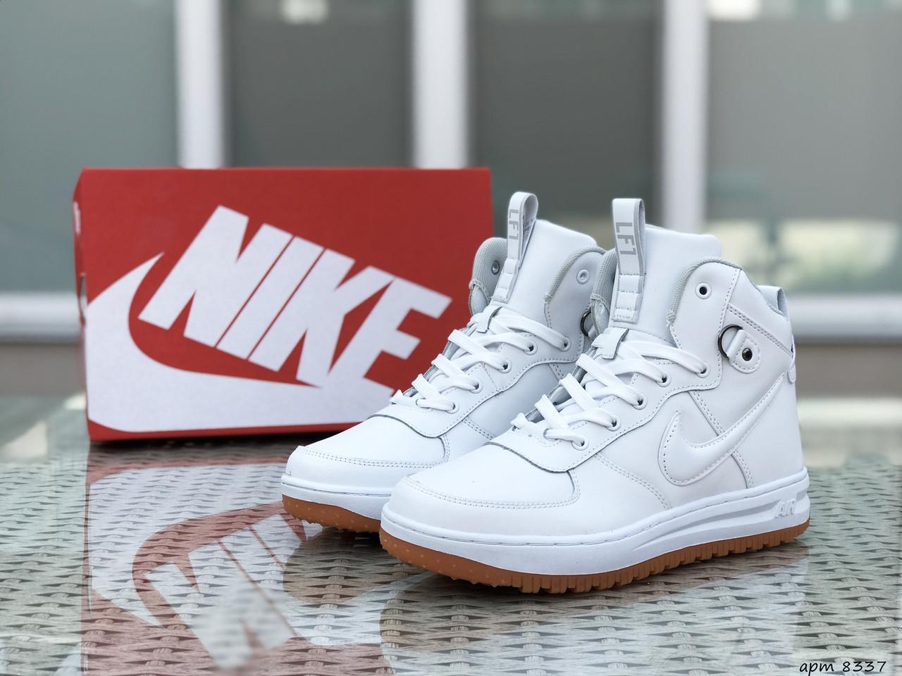 Высокие кроссовки Nike Lunar Force 1,белые