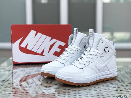 Высокие кроссовки Nike Lunar Force 1,белые, фото 2