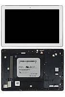 Дисплей для планшета Asus ZenPad 10 Z300C, Z300CG, Z300CL (ver.1, расстояние от фронтальной камеры к краю 6mm) + Touchscreen with frame White