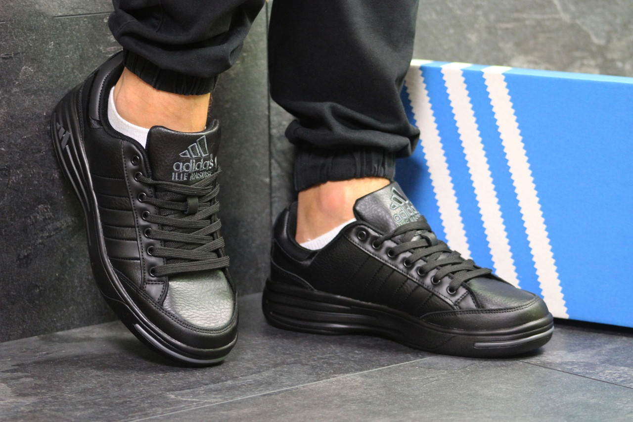 Мужские кроссовки Adidas ilie nastase,черные
