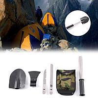 Туристический набор 4в1 (лопата/нож/пила/топор) - изготовлен из высококачественной стали, компактный, удобный, фото 1