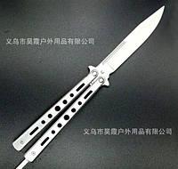 Нож-бабочка (балисонг) - антикоррозионная сталь, отличная заточка лезвия, красивый дизайн, фото 1