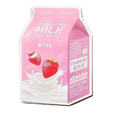 Осветляющая тканевая маска  экстрактом клубники A'Pieu Strawberry Milk One-Pack
