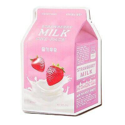 Осветляющая тканевая маска  экстрактом клубники A'Pieu Strawberry Milk One-Pack, фото 2