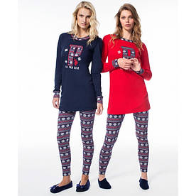 Домашняя одежда U.S. Polo Assn - Пижама женская (длин.рукав) 15521 красная, L