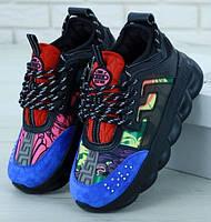 Женские Кроссовки Versace Chain Reaction Sneakers Black