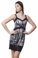 Платье черно-белое, платье летнее масло ткань с декольте, нарядное бирюзовое красивое, мини, фото 1