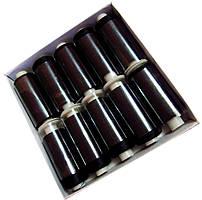 Нитки шелковые вышивальные 210D/3 (10шт/уп) Черный