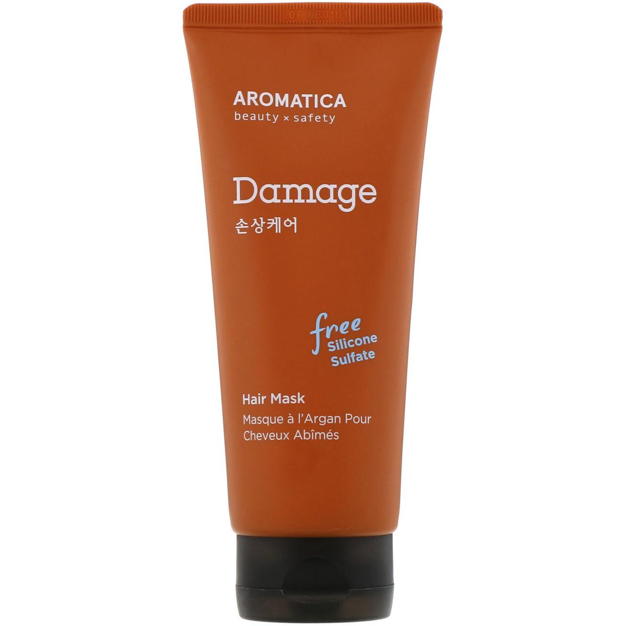Питательная маска с маслом арганы для повреждённых волос AROMATICA Argan Damage Hair Mask, 180 мл