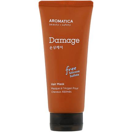Питательная маска с маслом арганы для повреждённых волос AROMATICA Argan Damage Hair Mask, 180 мл, фото 2