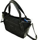 Женская сумка черная из натуральной замши Zara (23*26*11 см), фото 2