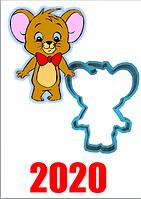 Вырубка Форма для пряника мастики мышка разм 6 см код  91020