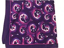Хлопковая  бандана с абстрактным  рисунком цвет фиолетовый