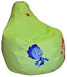 Безкаркасне крісло мішок груша sportkreslo Фиксики екокожа розмір L 95*115см салатовий, фото 3