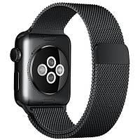 Ремешок BeWatch для Apple Watch миланская петля 42 мм / 44 мм Черный (1060201)