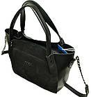 Женская сумка черная из натуральной замши (23*26*11 см), фото 6