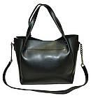 Женская сумка черная из натуральной замши (23*26*11 см), фото 7