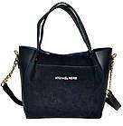 Женская сумка черная из натуральной замши (23*26*11 см), фото 3