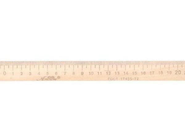Лінійка 20 см дерев'яна Атлас, К-4051, 901547
