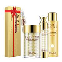 Набор косметический для лица Bioaqua на основе жемчужной эссенции Pure Pearls + сыворотка в подарок (0102)