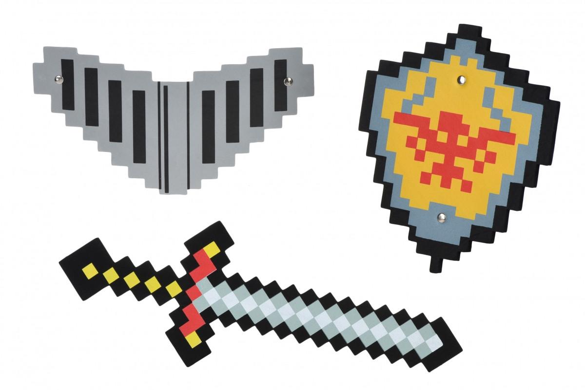 """Набор игрушечного оружия """"Детский меч, щит и шлем Майнкрафт"""", Same Toy"""
