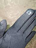 Трикотаж с сенсором женские перчатки для работы на телефоне плоншете (только ОПТ), фото 4