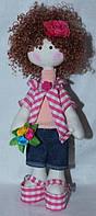 Мягкая игрушка, текстильная кукла тильда, ручная работа