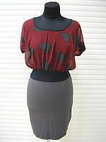 Платье женское летнее, платье короткое красного цвета повседневное молодежное, платье красивое, фото 1