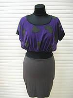Платье женское летнее, платье короткое фиолетового цвета повседневное молодежное, платье красивое, фото 1