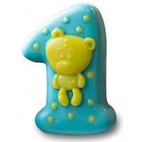 Пластиковая форма для мыла Ideal Brand Цифра 1. Мишка