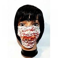 Кровавая маска с зубами на Хэллоуин